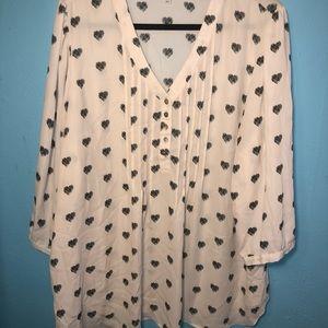 Rose + Olive blouse tunic